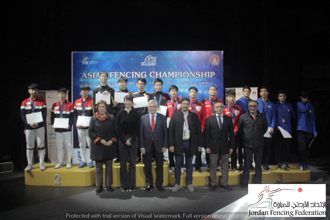Epee Men's Team Asian Cadet Championship Jordan 2019