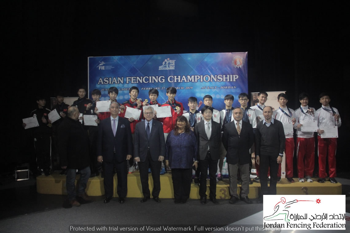 Foil Men's Team Asian Cadet Championship Jordan 2019