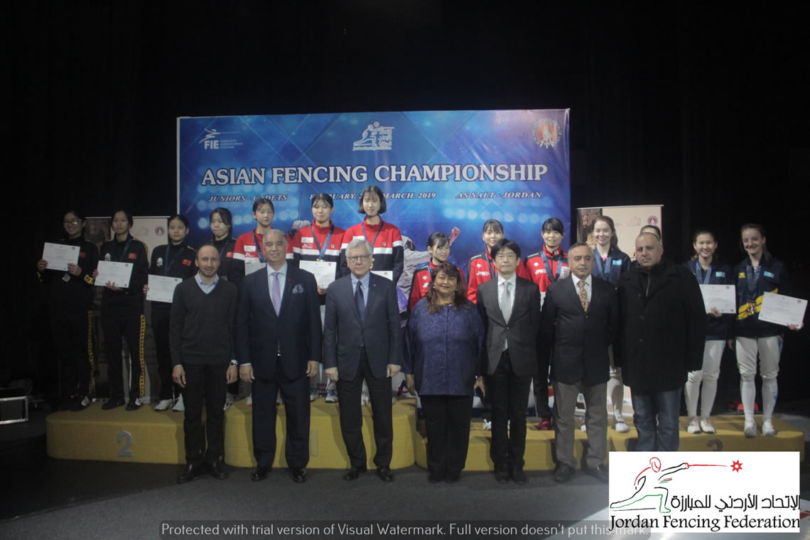 Sabre Women's Team Asian Cadet Championship Jordan 2019