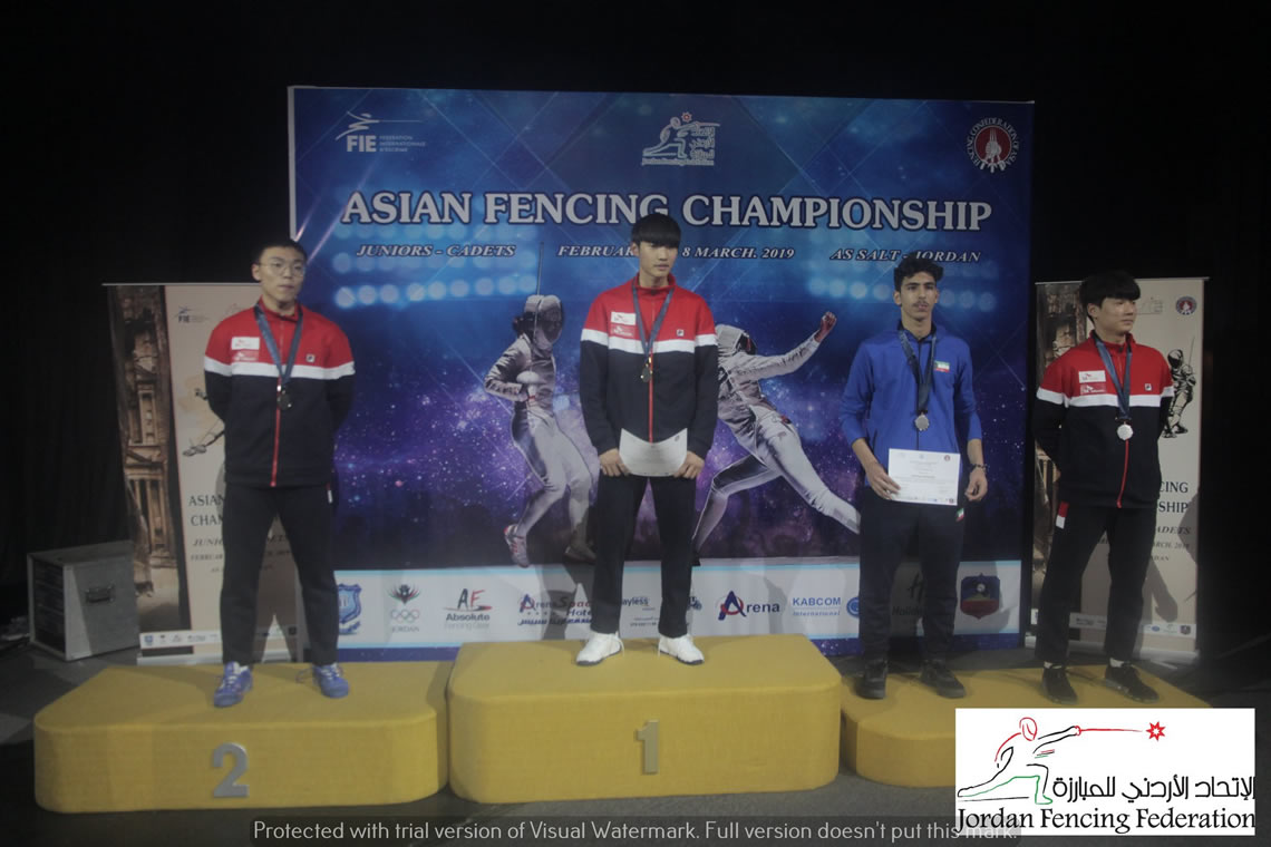 Sabre Men's Individual Asian Junior Championship Jordan 2019