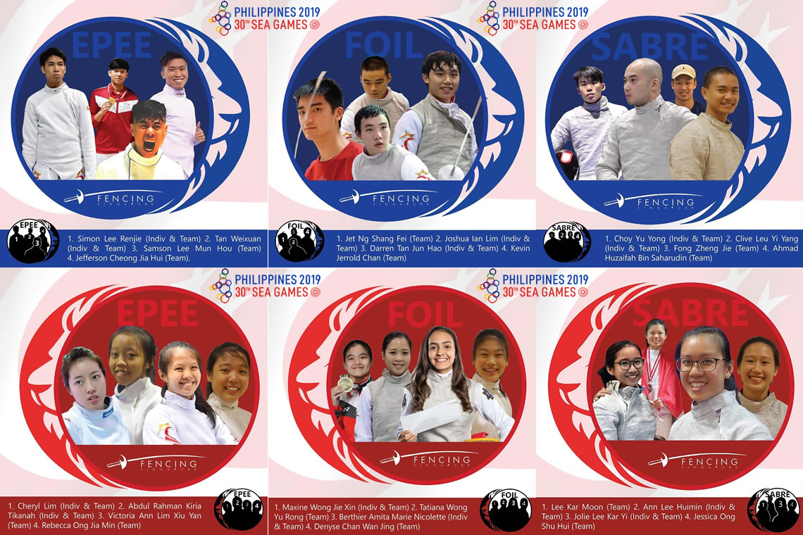 SEA Games 2019 Fencing Contingent