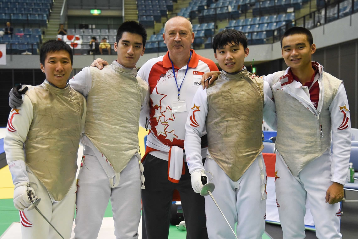 Asian Fencing Championships Foil Men's Team Tokyo Japan