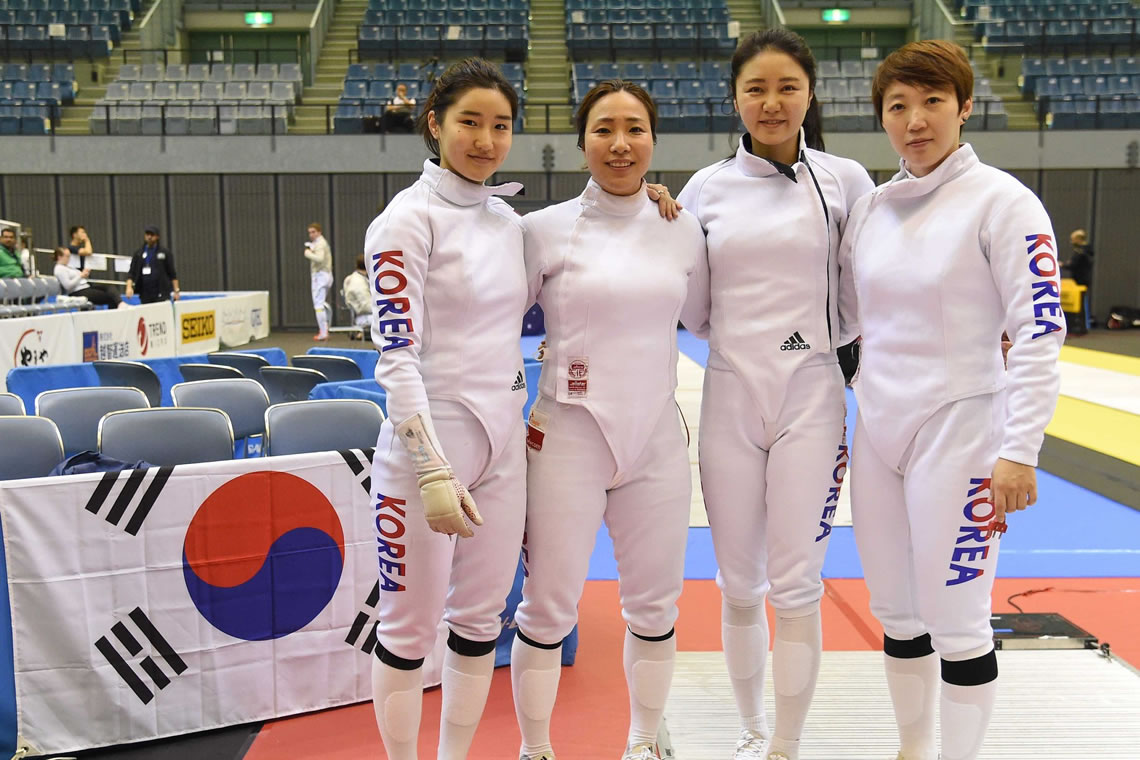 Asian Fencing Championships Epee Women's Team Tokyo Japan